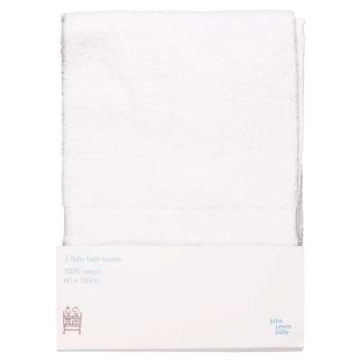 ANYDAY John Lewis & Partners Bath Towels, Pack of 2, White