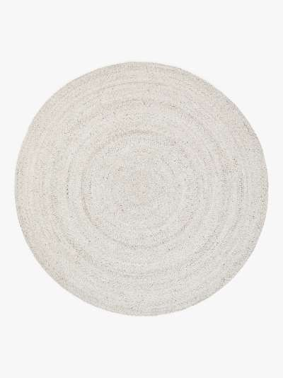 John Lewis & Partners Indoor & Outdoor Braided Round Rug, Marl Grey, Dia. 200 cm