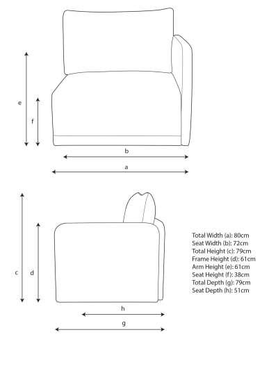 John Lewis & Partners Bundle Single Sofa Seat Unit with RHF Arm
