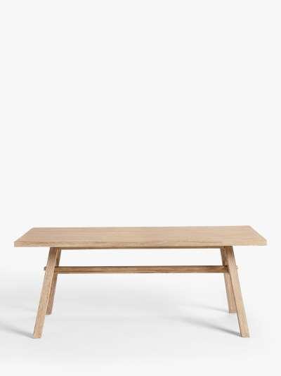 John Lewis & Partners Burford 6-Seat Garden Dining Table, FSC-Certified (Acacia Wood), Natural