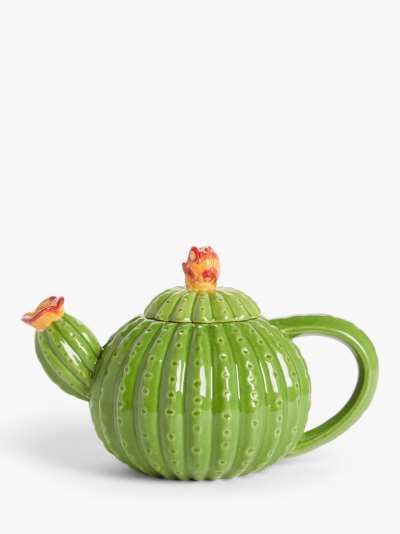John Lewis & Partners Cactus Teapot, 950ml, Green