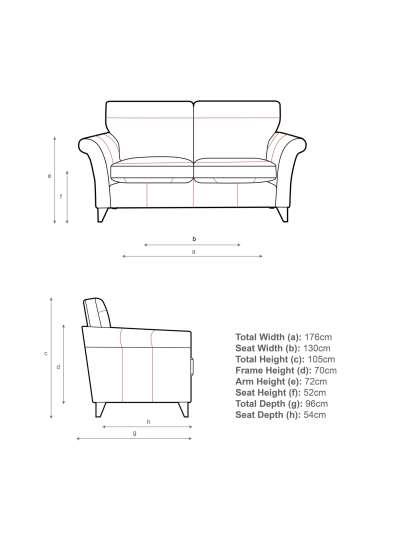 John Lewis & Partners Charlotte High Back Medium 2 Seater Sofa