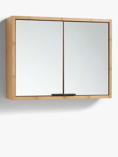 John Lewis & Partners Chevron Double Mirrored Bathroom Cabinet
