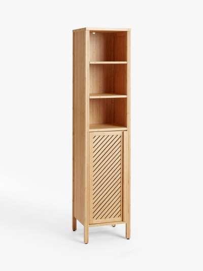 John Lewis & Partners Chevron Tallboy Bathroom Cabinet