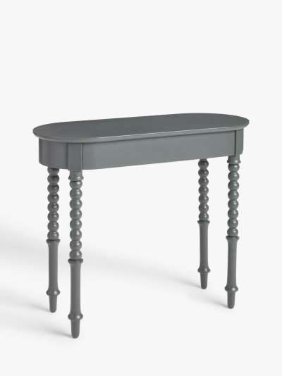 ANYDAY John Lewis & Partners Classic Bobbin Console Table, Grey