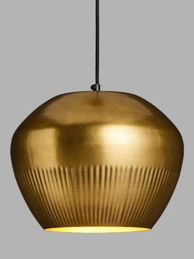 John Lewis & Partners Cloche Pendant Ceiling Light, Brass