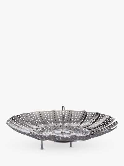 John Lewis & Partners Collapsible Steamer Basket, 23cm