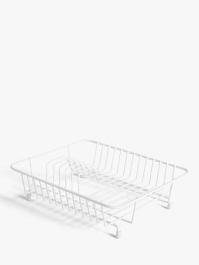 ANYDAY John Lewis & Partners Compact Dish Drainer, White