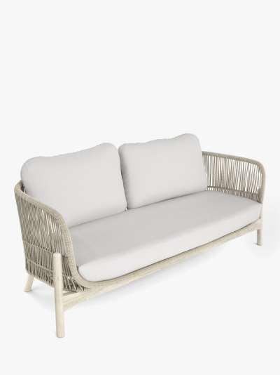 John Lewis & Partners Cradle Rope 2-Seat Garden Sofa, FSC-Certified (Acacia Wood), Natural