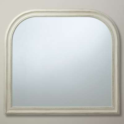 John Lewis & Partners Distressed Overmantle Mirror, 95 x 104cm, Cream