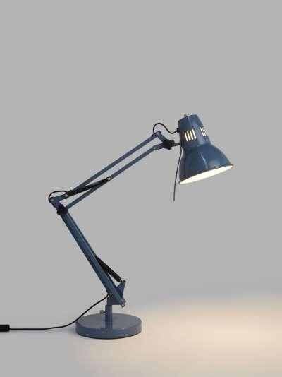 John Lewis & Partners Elliott Desk Lamp, Gloss Slate Blue