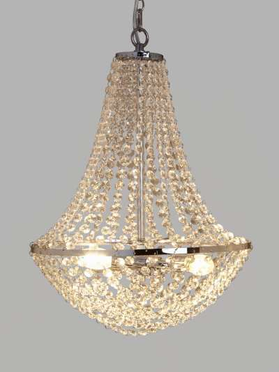 John Lewis & Partners Empire Crystal Chandelier Ceiling Light, Clear