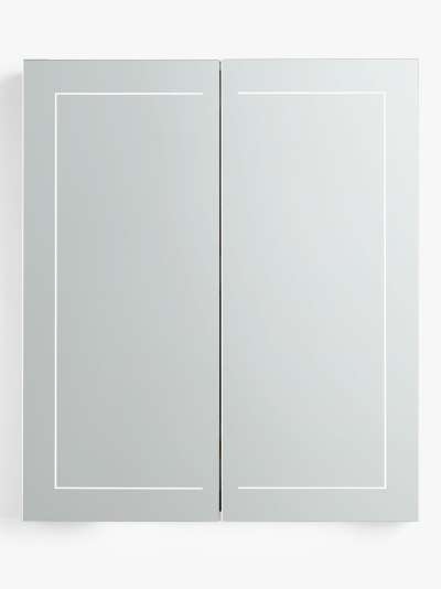 John Lewis & Partners Enclose Double Mirrored and Illuminated Bathroom Cabinet