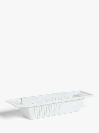 ANYDAY John Lewis & Partners Extendable Plastic Bath Rack