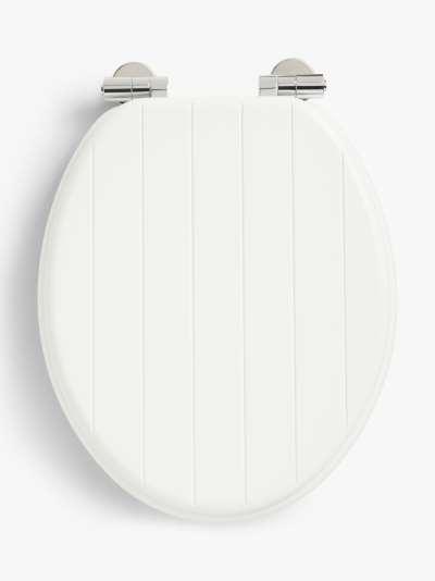 John Lewis & Partners Slatted Easy-Fix Toilet Seat, FSC-Certified (MDF)