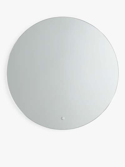 John Lewis & Partners Halo Illuminated Round Bathroom Mirror