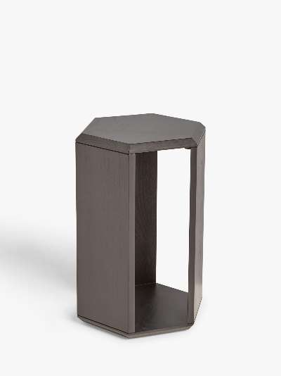ANYDAY John Lewis & Partners Hexagon Side Table, Black