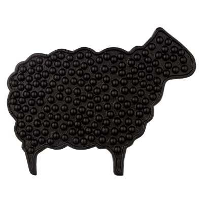 John Lewis & Partners Highland Sheep Cast Iron Trivet, Black, L30cm