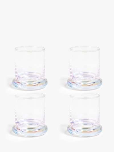 John Lewis & Partners Iridescent Shot Glasses, Set of 4