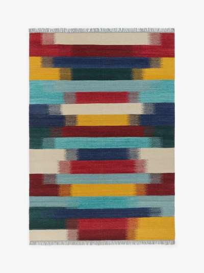 John Lewis & Partners Kerela Stripe Runner Rug, L240 x W70 cm