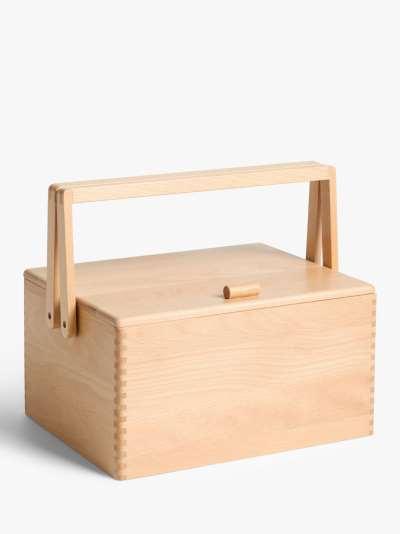 John Lewis & Partners Large Wooden Craft Storage Box