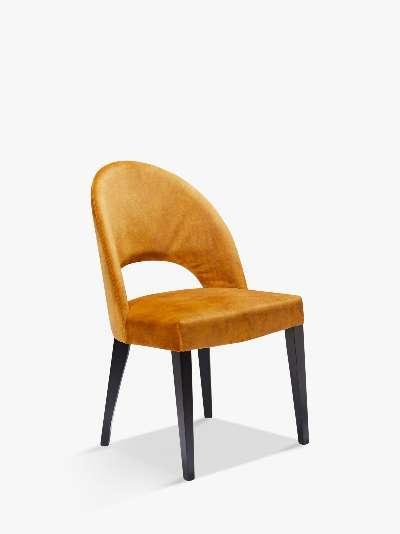 John Lewis & Partners Moritz Velvet Dining Chair, FSC-Certified (Beech)