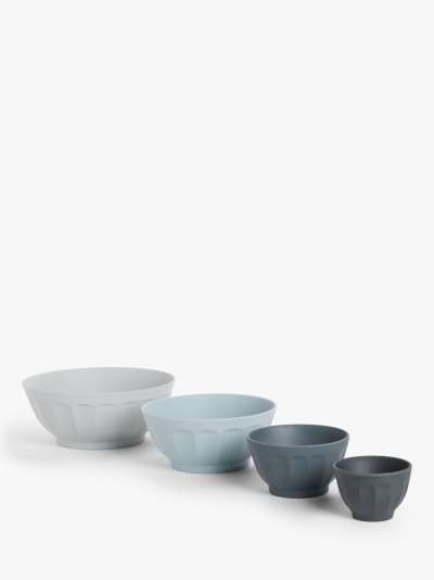 John Lewis & Partners Nesting Mixing Bowls, Set of 4, Assorted