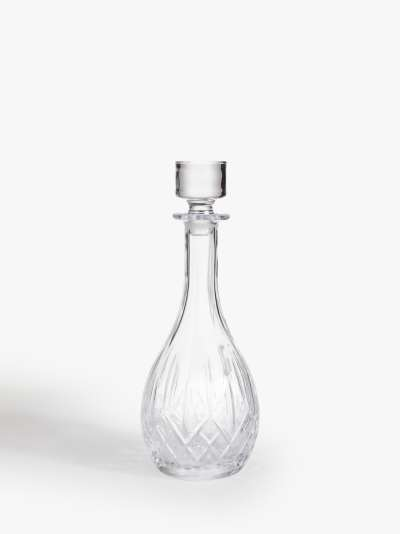 ANYDAY John Lewis & Partners Paloma Opera Tall Crystal Glass Decanter, 900ml, Clear