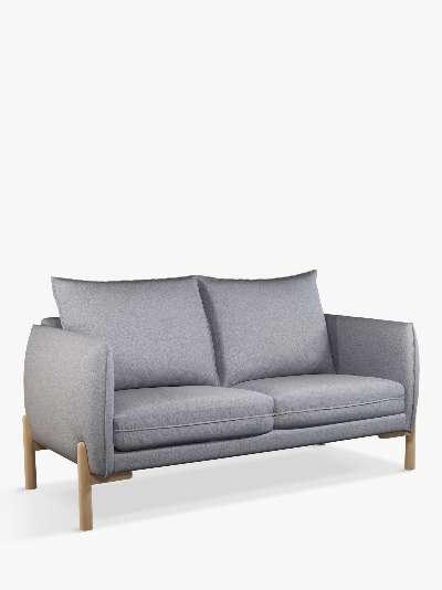 John Lewis & Partners Pillow Medium 2 Seater Sofa, Light Leg