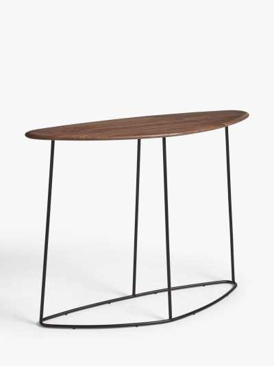 John Lewis & Partners Plectrum Console Table, Walnut
