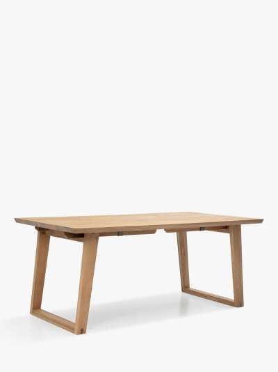 John Lewis & Partners Reflex 6-10 Seater Extending Dining Table, Oak