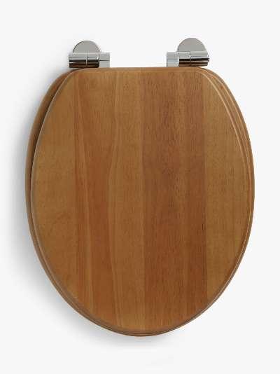 John Lewis & Partners Rubberwood Toilet Seat, Natural