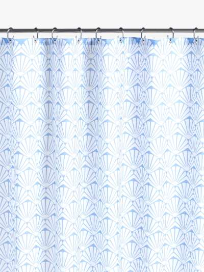 John Lewis & Partners Scallop Shell Recycled Polyester Shower Curtain