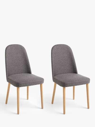John Lewis & Partners Seek Dining Chairs, Set of 2, Grey, FSC Certified (Beech)