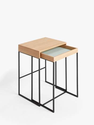John Lewis & Partners Segment Nest of 2 Tables, Natural