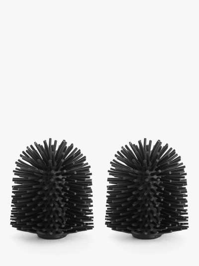 John Lewis & Partners Silicone Toilet Brush Head, 85mm, Pack of 2