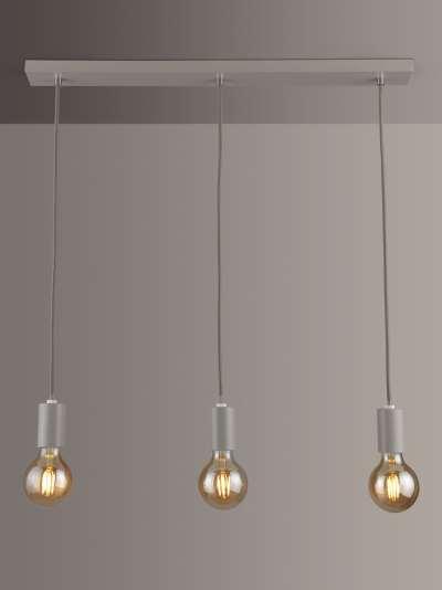 ANYDAY John Lewis & Partners Spoke 3 Pendant Diner Ceiling Light, Grey