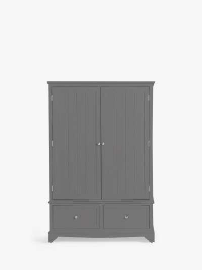 John Lewis & Partners St Ives Double Wardrobe with 2 Drawers, FSC Certified (Oak, Birch, Oak Veneer, MDF)