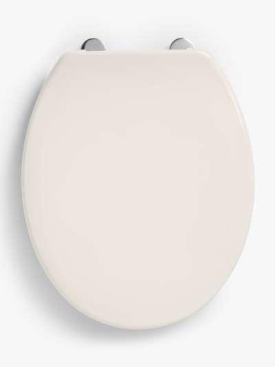 John Lewis & Partners Antibacterial Standard Toilet Seat, White