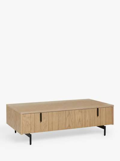 John Lewis & Partners Stave Storage Coffee Table, Natural