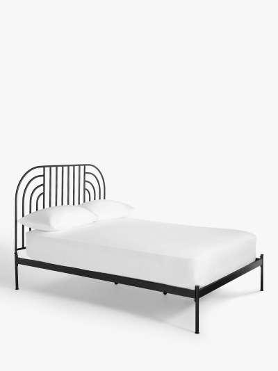 ANYDAY John Lewis & Partners Swirl Metal Bed Frame, King Size, Black