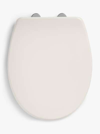 John Lewis & Partners Antibacterial Thermoset Soft Close Easy-Fix Toilet Seat, White