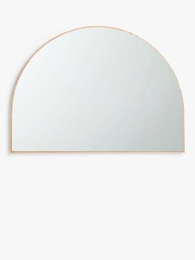 John Lewis & Partners Thin Oak Wood Frame Overmantle Mirror, Natural, 80 x 110cm