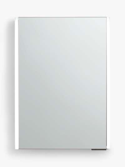 John Lewis & Partners Vertical Single Mirrored and Illuminated Bathroom Cabinet