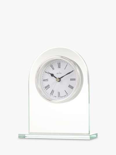 Acctim Ascott Glass Mantel Clock, Clear/Chrome, H17cm