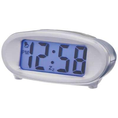 Acctim Eclipse Solar Dual Power Smartlite® Digital Alarm Clock, Silver