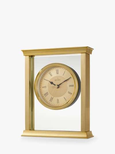 Acctim Halton Roman Numeral Analogue Mantel Clock, 18cm, Gold