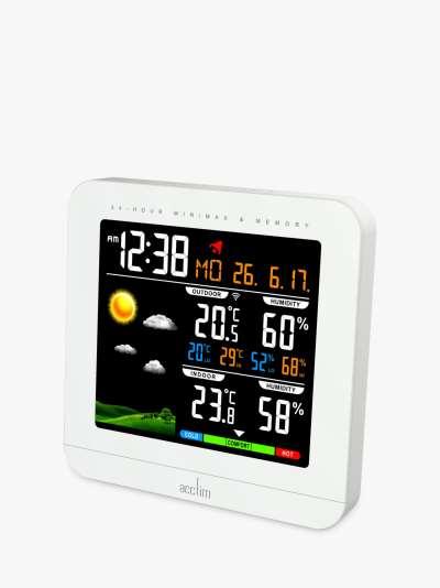 Acctim Wyndham Weather Station Digital Alarm Clock