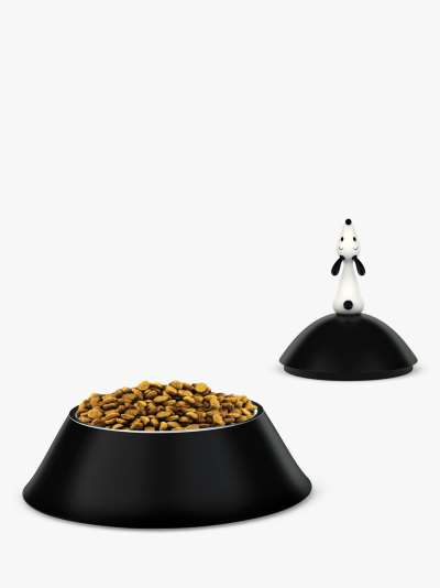 Alessi Lulà Dog Bowl, Black