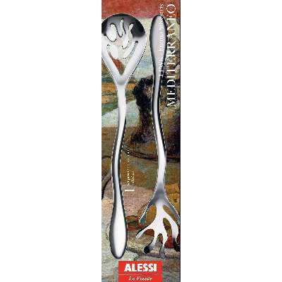 Alessi Mediterraneo Stainless Steel Salad Servers